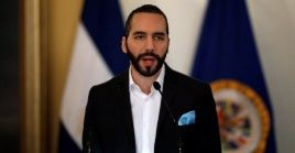 El Salvador's President Nayib Bukele signing an agreement to create the International Commission Against Impunity in El Salvador (CICIES), El Salvador September 6, 2019.