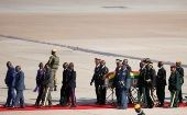 The body of former Zimbabwean President Robert Mugabe arrives back in the country after he died on Friday (September 6) in Singapore after a long illness, Harare, Zimbabwe September 11, 2019.