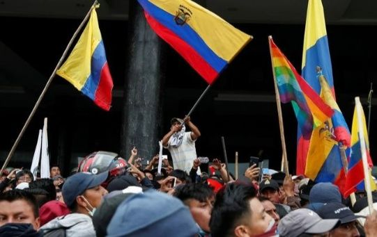 During 12 days of protests that hit Ecuador from Oct. 3 - 14, people decried neoliberal labor reforms required by the IMF.