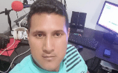 Javier Cordoba Chaguendo was killed by a hitman while conducting a music program in Nariño, Colombia. Oct. 19, 2019