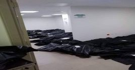 Bodies in a hospital corridor in Guayaquil, Ecuador, March 31