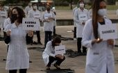 Nurses honor 109 health professionals who died from COVID-19, Brazilia, Brazil, May 12, 2020
