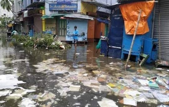 This picture from College Street, in Kolkata, shows the devastation caused by Cyclone Amphan, West Bengal, India, May 21, 2020.