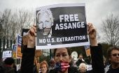 Rally to reject the extradition request against Julian Assange, London, UK, Feb. 24, 2020.