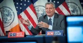Mayor Bill de Blasio, New York City, U.S., Oct.8, 2020.